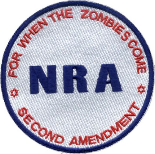 NRA DONATION Embroidered Second Amendment ZOMBIE Patch