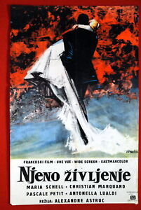 ONE-LIFE-2-MARIA-SCHELL-PASCALE-PETIT-FRENCH-1958-SLOVENIAN-EXYU-MOVIE-POSTER