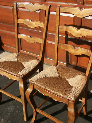 2 Frontgate Barstool Wicker Country Stool Bar Counter