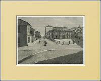 Saluzzo. Piazza Duomo - Piemonte. In Passepartout 1894 -  - ebay.it