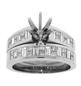 1-75ct-BRIDAL-WEDDING-RING-SET-SEMIMOUNT-14K-WHITE-GOLD