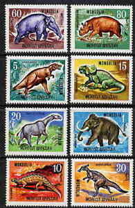 MONGOLIA-1967-PREHISTORIC-ANIMAL-DINOSAUR-STAMPS-COMPLETE-SET-10-VALUE