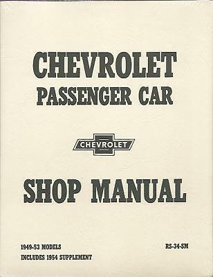 1949 50 51 52 53 54 Chevrolet Passenger Car Shop Manual