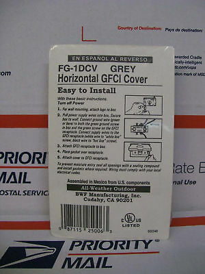 Bwf Manufacturing Fg-1dcv Horizontal Gfci Cover Gray