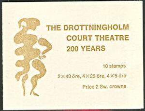 SWEDEN (H180B) Scott 706a, Court Theater Booklet