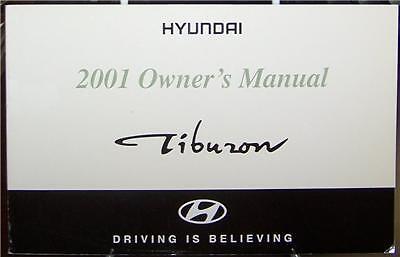 2001 Hyundai Tiburon Owners Manual Original