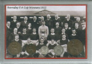Barnsley-FC-The-Tykes-Vintage-FA-Cup-Final-Winners-Retro-Coin-Year-Gift-Set-1912
