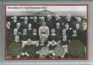 Barnsley-The-Tykes-Vintage-FA-Cup-Final-Winners-Antique-Coin-Year-Gift-Set-1912