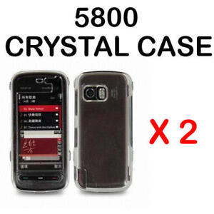 2 x CLEAR CRYSTAL CASE COVER FOR NOKIA 5800 XPRESSMUSIC