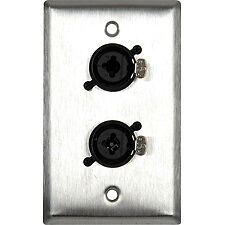 wall plate audio patch panel combo xlr and 1 4 in jack ebay. Black Bedroom Furniture Sets. Home Design Ideas