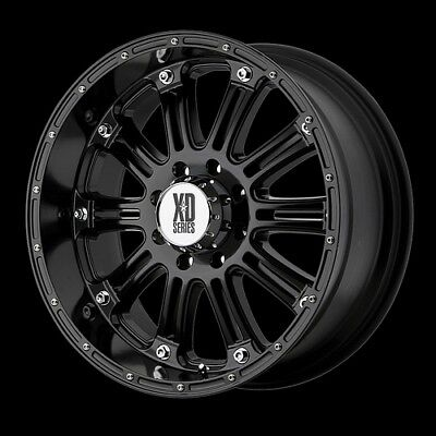 "17"" WHEELS RIMS XD HOSS GLOSS BLACK RIMS WITH 295-70-17 NITTO TRAIL GRAPPLER MT"