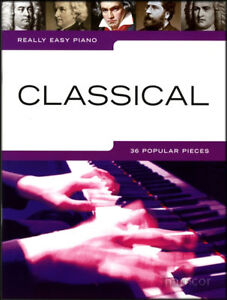 Really Easy Piano Classical Sheet Music Book Mozart Handel Chopin Bach Bizet