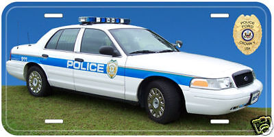 Ford Crown Victoria Police Car Novelty License Plate