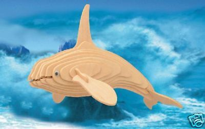 Killer Whale 3-d Puzzle Kit By Puzzled Wood 6 Yrs+