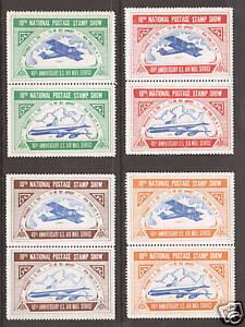 US-MNH-1958-ASDA-Labels-vert-se-tenant-pairs-cplt-VF