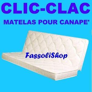 Matelas pour canape 39 clic clac polilattex cm 60 80x200 ebay for Matelas pour canape