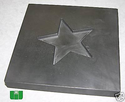 Optic Mold Graphite Lampwork Glass Star 2.5 x .125 deep