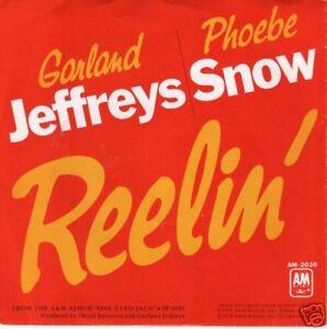 DJ-45-rpm-GARLAND-JEFFREYS-PHOEBE-SNOW-Reellin-w-PS-M