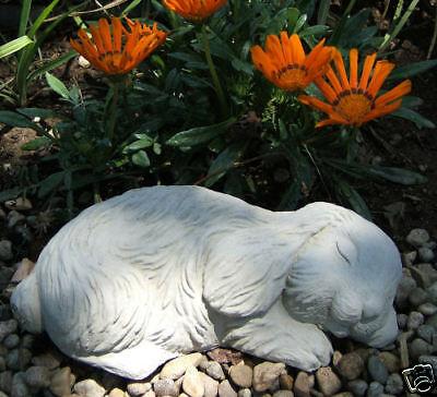 CUTE SLEEPING BUNNY Rabbit Outdoor Garden Statue Art (C)