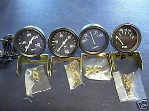 jeep willys mb gpw cj2a 3a cj3b 12 volt gauge kit new ebay. Black Bedroom Furniture Sets. Home Design Ideas