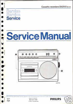 Philips Original Service Manual für Recorder D 6210