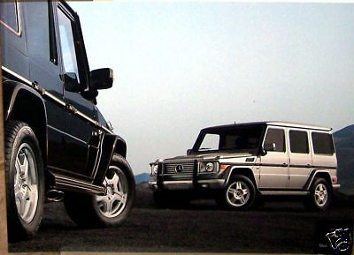 2004 Mercedes G500 G55 Owners Sales Brochure Class