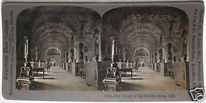 Keystone-Stereoview-of-the-Vatican-Library-Rome-ITALY-From-a-72-Card-Set