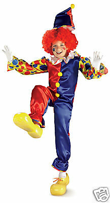 Bubbles The Clown Child Halloween Costume Large 12-14
