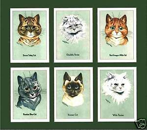 MOUNTED-LOUIS-WAIN-CAT-CARDS-YOUR-CHOICE-OF-13-SETS