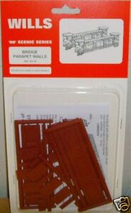 Wills SS79 Bridge Parapet Walls Kit NEW 00 Gauge