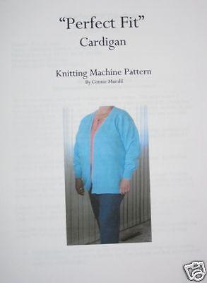 """NEW   """"Perfect Fit Cardigan""""   Knitting machine Pattern"""