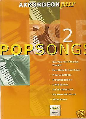 Akkordeon Noten - POPSONGS - Band 2 - mittelschwer