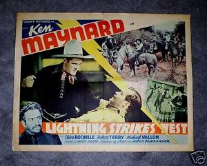 LIGHTNING-STRIKES-WEST-40-ORIG-KEN-MAYNARD-HALF-SHEET