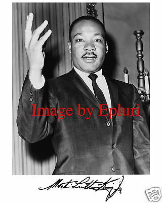 Martin Luther King, Jr. Pre-print Signed 8x10 Photo
