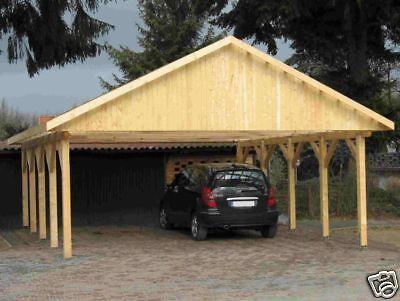 Carport Satteldach MONTE CARLO I 600x700cm KVH-Holz
