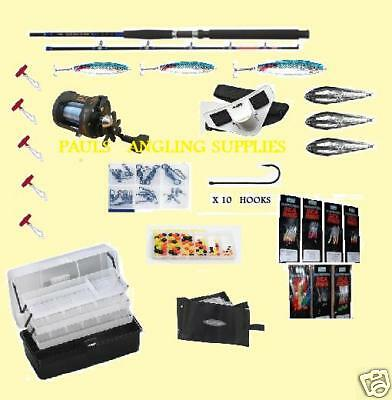 Full Boat Fishing Kit Rod Reel Line Lures Box Tackle 2