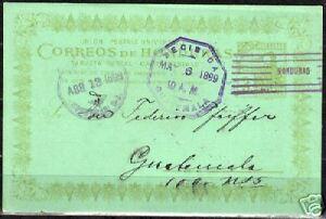 Honduras 1899 3c impr PC to Guatamala VF