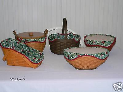 Longaberger Get Together Liner American Holly Fits Multiple Baskets -