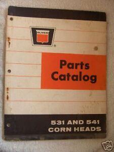 1966 OLIVER 531 /& 541 CORN HEADS PARTS CATALOG