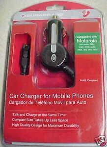 NEW! MOTOROLA CAR CHARGER / V60 series, 120C, V265,