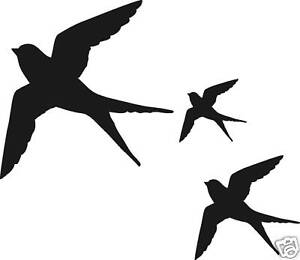 26x swallow birds, window, wall, conservatory stickers