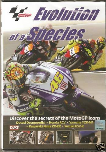 EVOLUTION OF A SPECIES DVD - Moto GP Icons Ducati Honda RCV Yamaha YZR-M1 + more