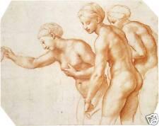 Renaissance Drawings: Raphael -Three Graces - Art Print