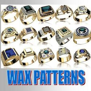 WAX-PATTERNS-man-039-s-rings-for-casting-jewelry-MOLD-m5