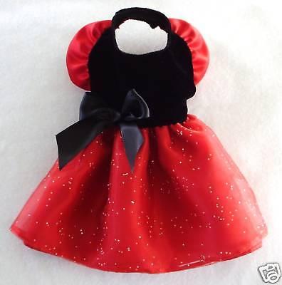Xxs Black Velvet Red Satin Dog Dress Clothes Gown Pc Dog®