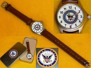 USN-WATCH-Leather-Strap-UNITED-STATES-NAVY-New-in-Box