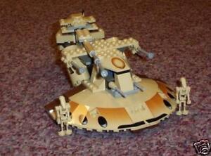 Lego Star Wars 7155 comercio Federación AAT 100% Completo