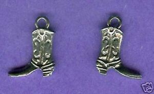 20 wholesale lead free pewter cowboy boot charms 1088