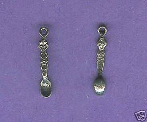 20 wholesale lead free pewter spoon charms 1191