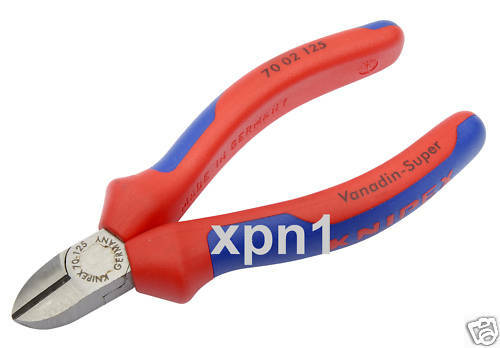 Knipex 70 02 125 Diagonal Side Cutters 125mm 55473